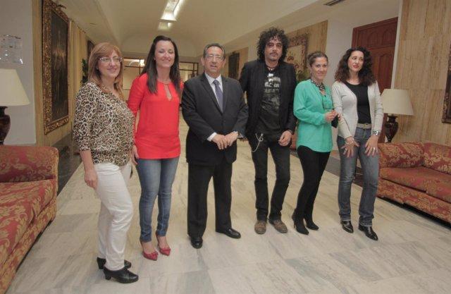 Jurado del concurso de caracoles con Ricardo Rojas