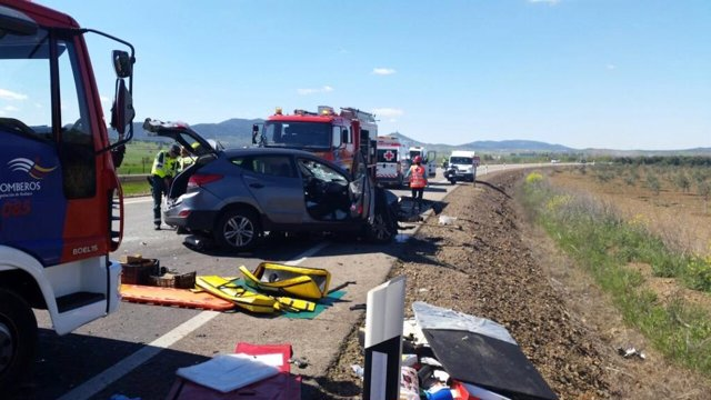 Accidente en Zafra