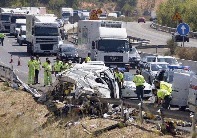 Accidente de tráfico en Buñol, Valencia