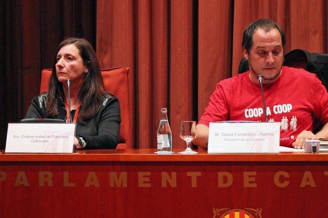 Cristina Isabel de Francisco (exsecr. De Jordi Pujol jr) David Fernández (CUP)