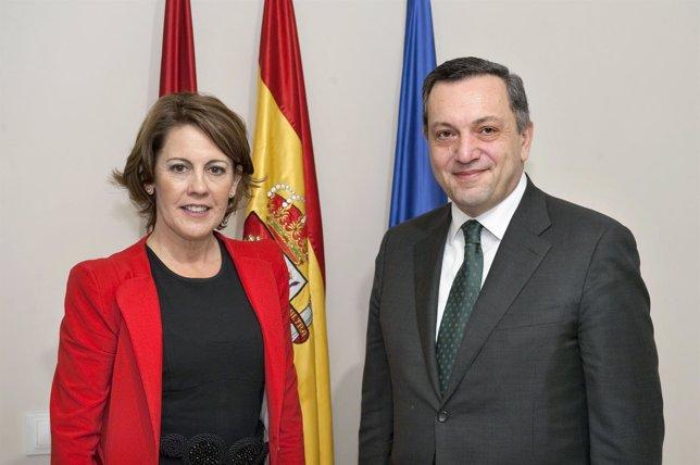 Barcina con el embajador de Armenia en España.