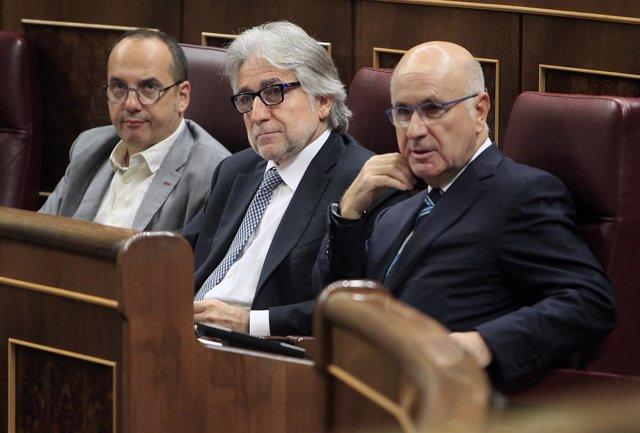 Josep Antoni Duran i Lleida, Josep Sánchez Llibre y Carles Campuzano