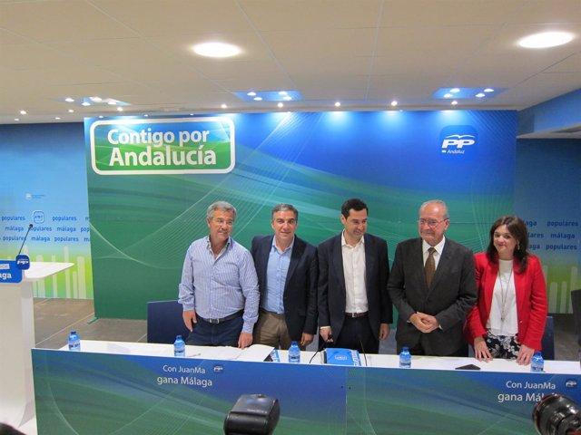 Juanma Moreno, Bendodo, De la Torre PP-A