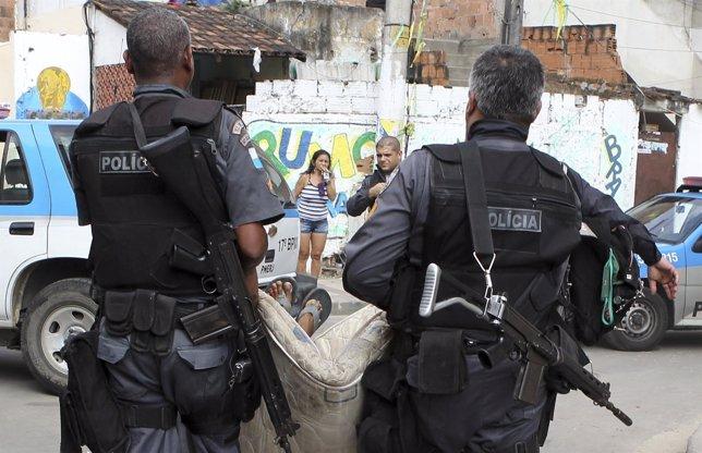 Miembros de la Policía Militar de Brasil.