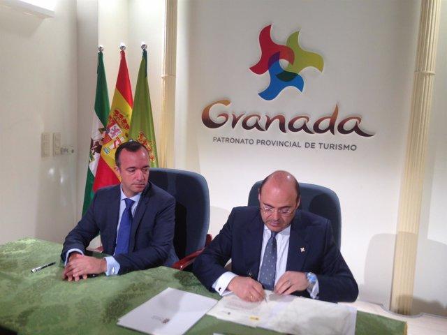 Secretario de Estado de Seguridad, Francisco Martínez, y Sebastián Pérez