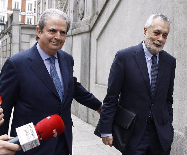 José Antonio Griñán llega al Tribunal Supremo para declarar por los ERE