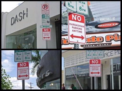 """Artista Plastic Jesus """"prohíbe aparcar a los Kardashian"""" en Los Ángeles"""