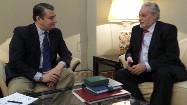 Reunión entre Maeztu y Sanz