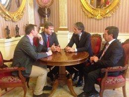 Encuentro de los alcaldes de Burgos y Santander