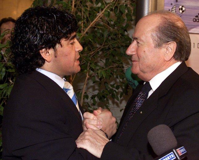 Maradona y Blatter