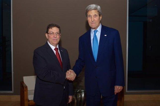 Reunión entre Kerry y Rodríguez