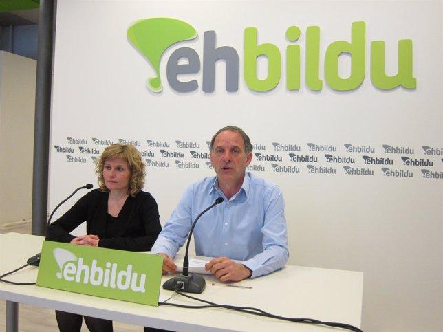 Adolfo Araiz y Arantza Izurdiaga, de EH Bildu.
