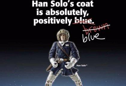 La polémica del vestido llega a Star Wars: ¿De qué color es el abrigo de Han Solo?