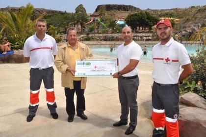 RSC.-Aspro Parks dona la recaudación de la carrera del barranco de Palmitos a Cruz Roja
