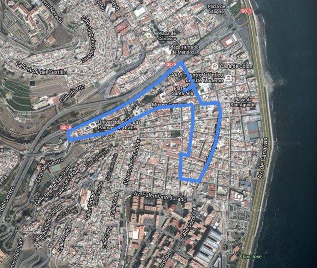 Mapa De Las Palmas De Gran Canaria Calles.El Casco Historico De Vegueta En Las Palmas De Gran Canaria