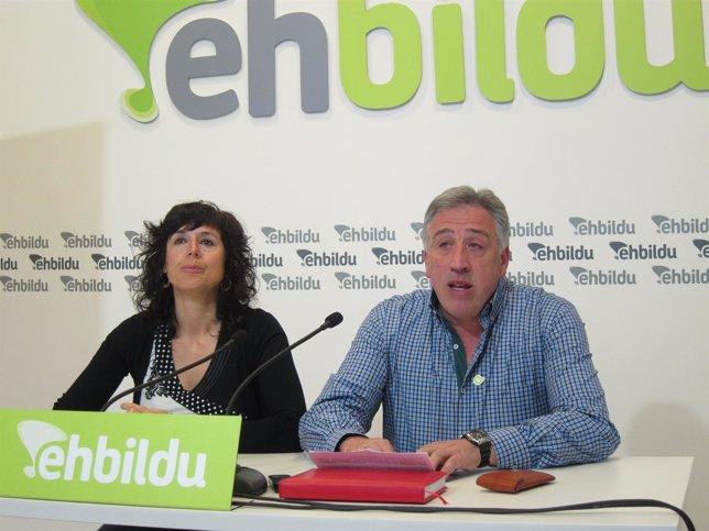 Patricia Perales y Joseba Asirón.