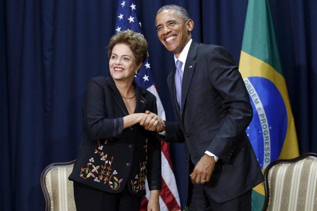 Rousseff y Obama