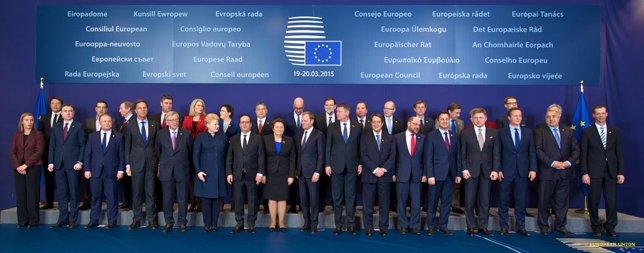 Foto de familia del Consejo Europeo de marzo en Bruselas