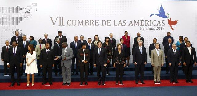 Jefes de Estado asistentes a la VII Cumbre de las Américas