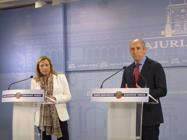 Comparecencia de Joana Ortega y Josu Erkoreka
