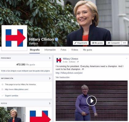 Hillary Clinton lanza oficialmente su candidatura a presidir EEUU