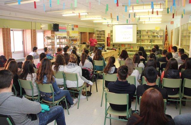 Los alumnos del IES Rambla de Nogalte