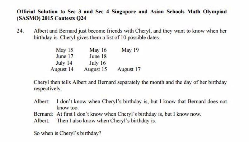 Un test de lógica para niños de 14 años de Singapur está ...