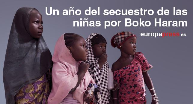 Mujeres en Damasak tras ser recuperada de manos de Boko Haram