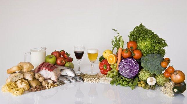 alimentos forman la dieta mediterránea