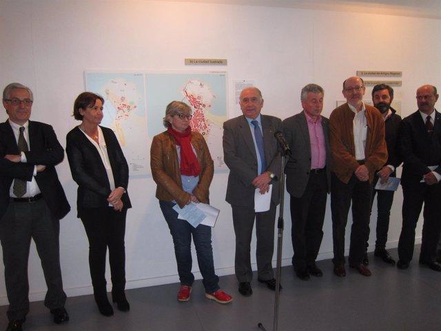 Acto de inauguración en el Museo Barjola.
