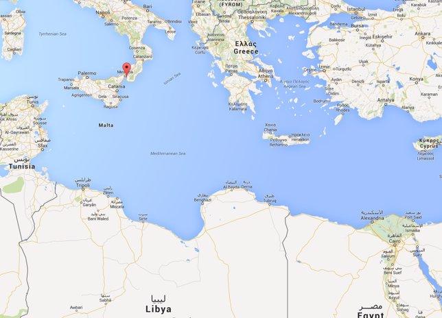 Mapa del lugar al que llegaron los supervivientes