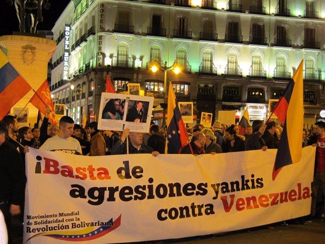 Manifestación Venezuela Madrid