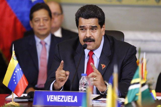 El presidente de Venezuela , Nicolás Maduro