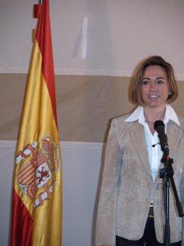 Visita de Carme Chacón a Salamanca en 2011