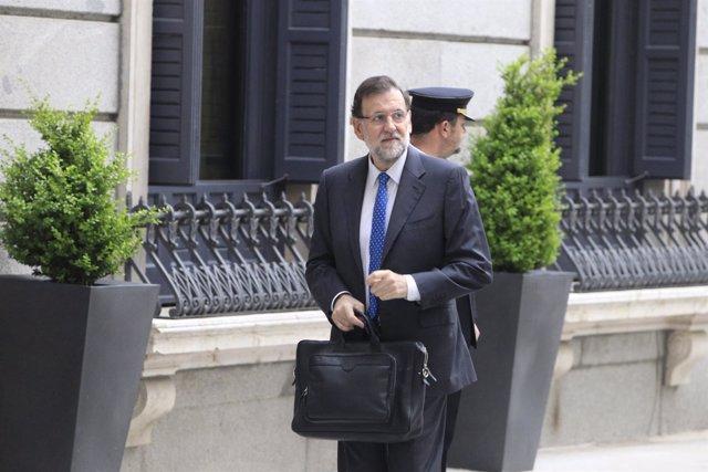 Mariano Rajoy llegando al Congreso
