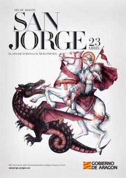 Cartel anunciador del Día de Aragón 2015.