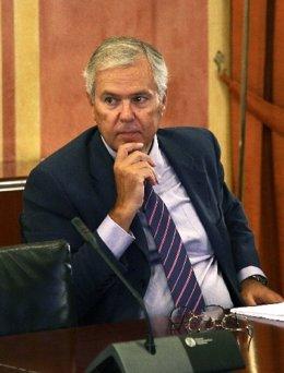 Manuel Gómez en la comisión de los ERE