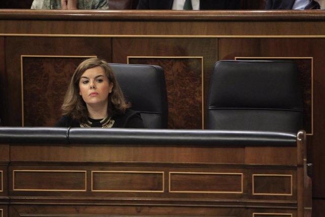 Soraya Santamaría en el Congreso de los Diputados