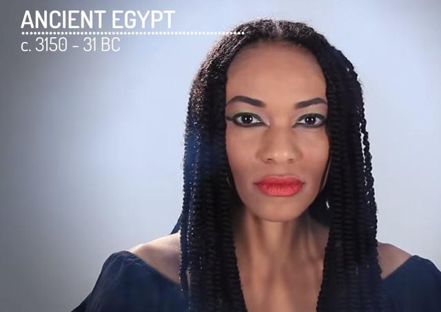 7da45ca2b Para los egipcios, la belleza residía en una piel muy bronceada y unos  grandes ojos delineados con forma de pez sobre una sombra de ojos oscura,  ...