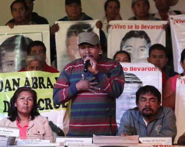 Melitón Ortega, el padre del uno de los 'normalistas' despaarediso
