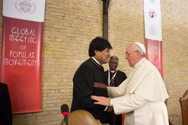 El Papa con Evo Morales