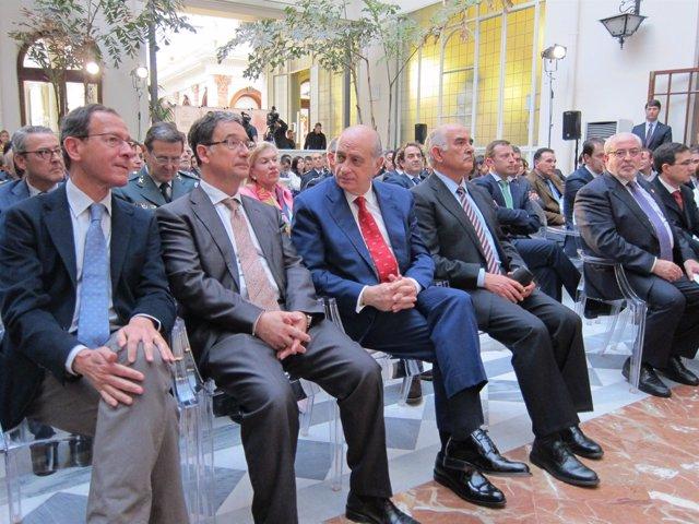 Cámara, Bascuñana, Fernández Díaz, Garre y Mendoza, en el Foro Nueva Murcia