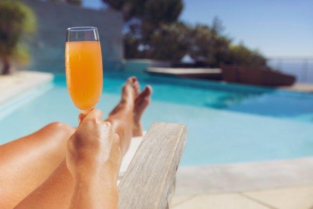 Zumo, piscina, relajación, vacaciones