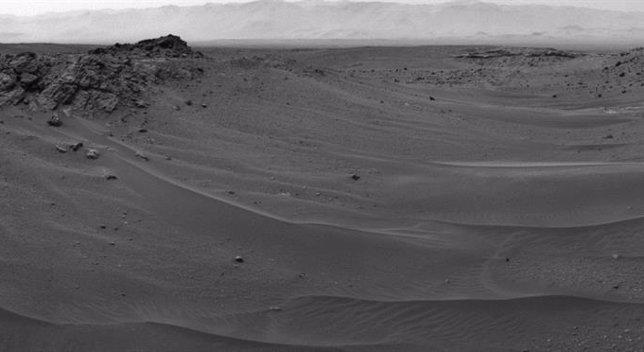 Paisaje en el que se encuentra el rover Curiosity