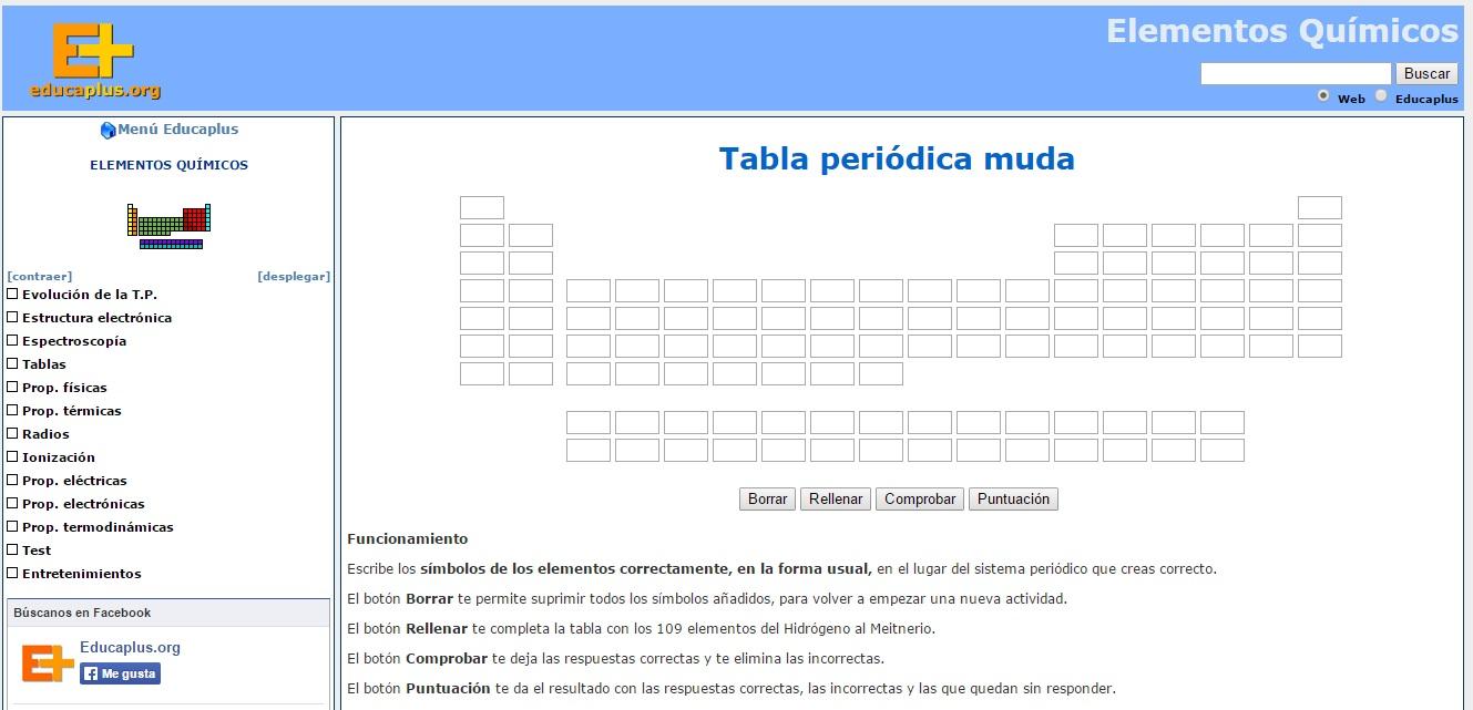 aqu encontrars una tabla peridica muda con la que debes practicar la escritura de los smbolos de forma correcta y en su lugar especfico