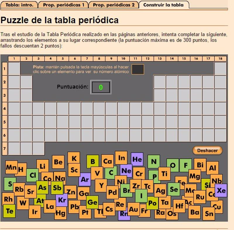 Cinco juegos online para aprender la tabla peridica urtaz Images