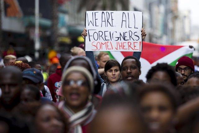 Manifestaciones en Durban