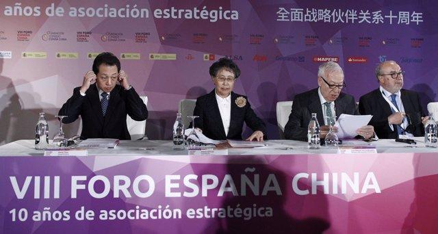Margallo y Wang chao, el viceministro de Exteriores de China