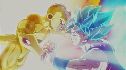 Goku y Vegeta lucen pelo azul en Dragon Ball Z: La resurrección de Freezer