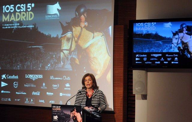 Ana Botella, alcaldesa de Madrid en la preesentación de CSI